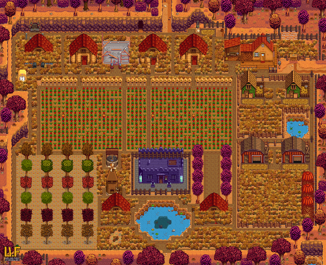 Farm plan render - upload.farm Stardew Valley Summary