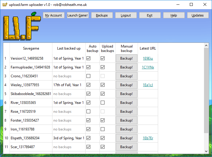 upload farm automatic savegame uploader tool and Patreon